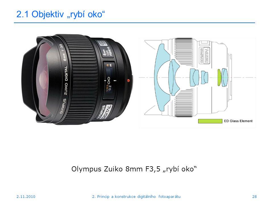 "2.1 Objektiv ""rybí oko Olympus Zuiko 8mm F3,5 ""rybí oko 2.11.2010"