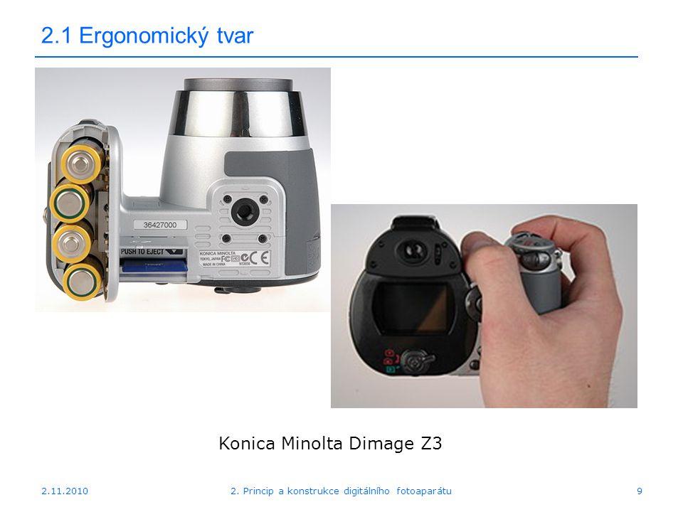 2.1 Ergonomický tvar Konica Minolta Dimage Z3 2.11.2010