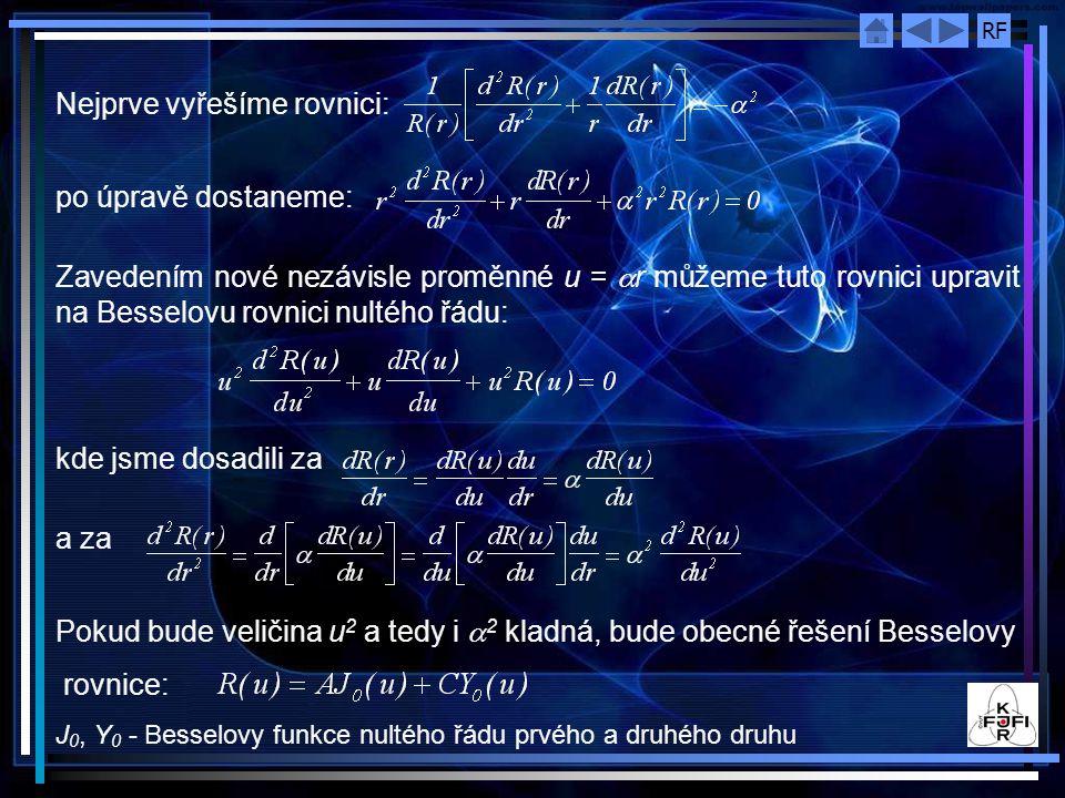 Nejprve vyřešíme rovnici: po úpravě dostaneme:
