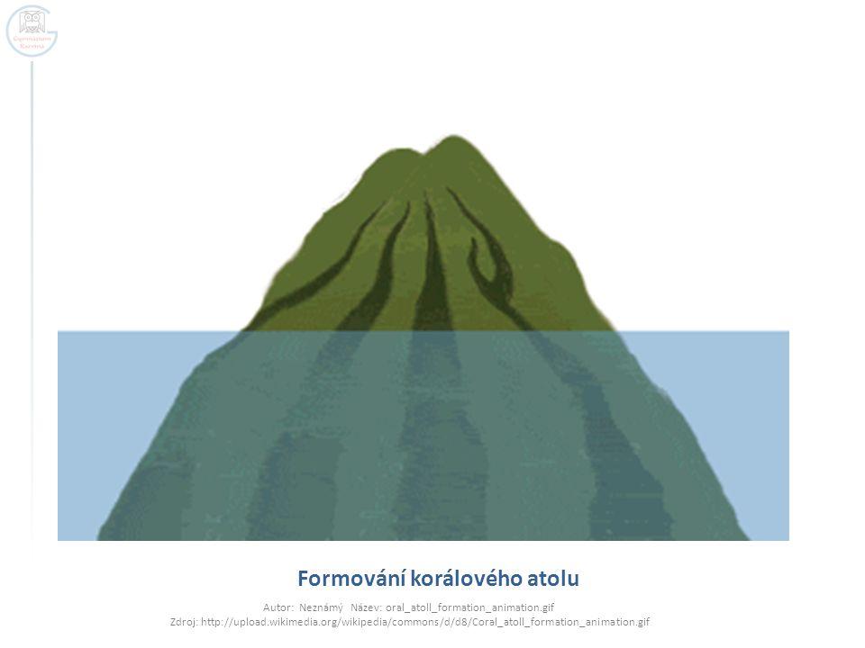 Formování korálového atolu