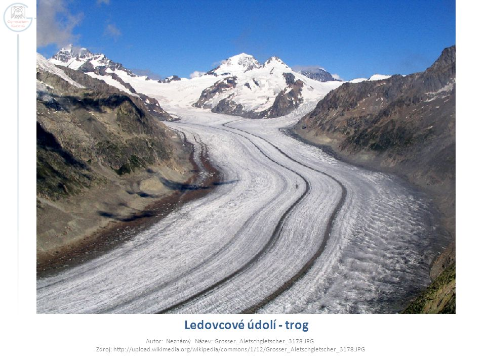 Ledovcové údolí - trog