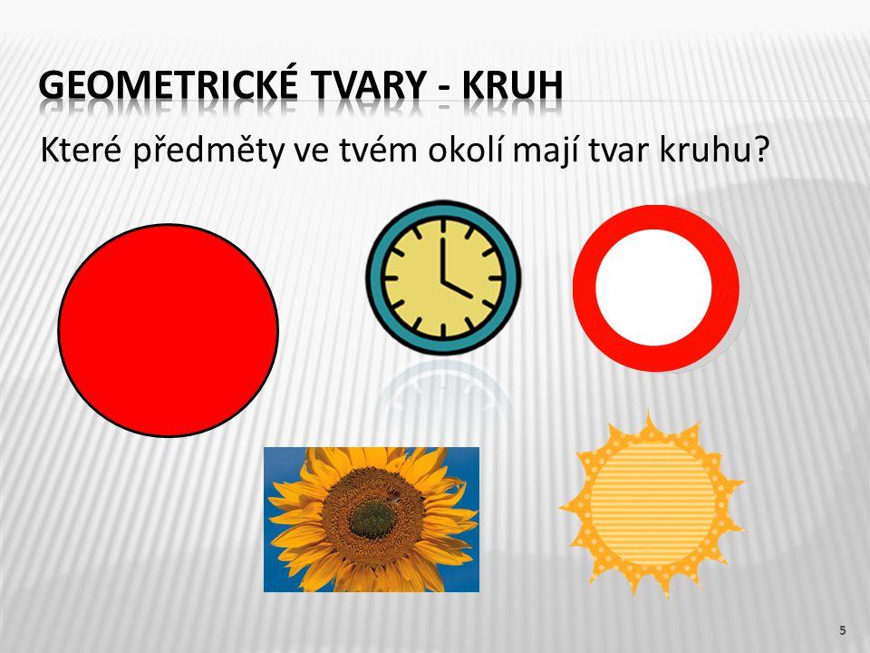 Geometrické tvary - kruh