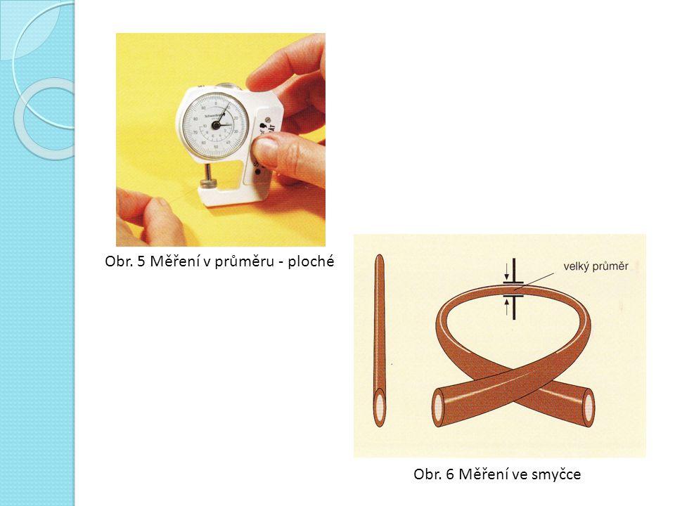 Obr. 5 Měření v průměru - ploché