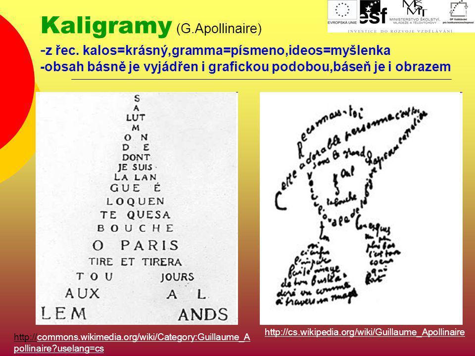 Kaligramy (G. Apollinaire) -z řec