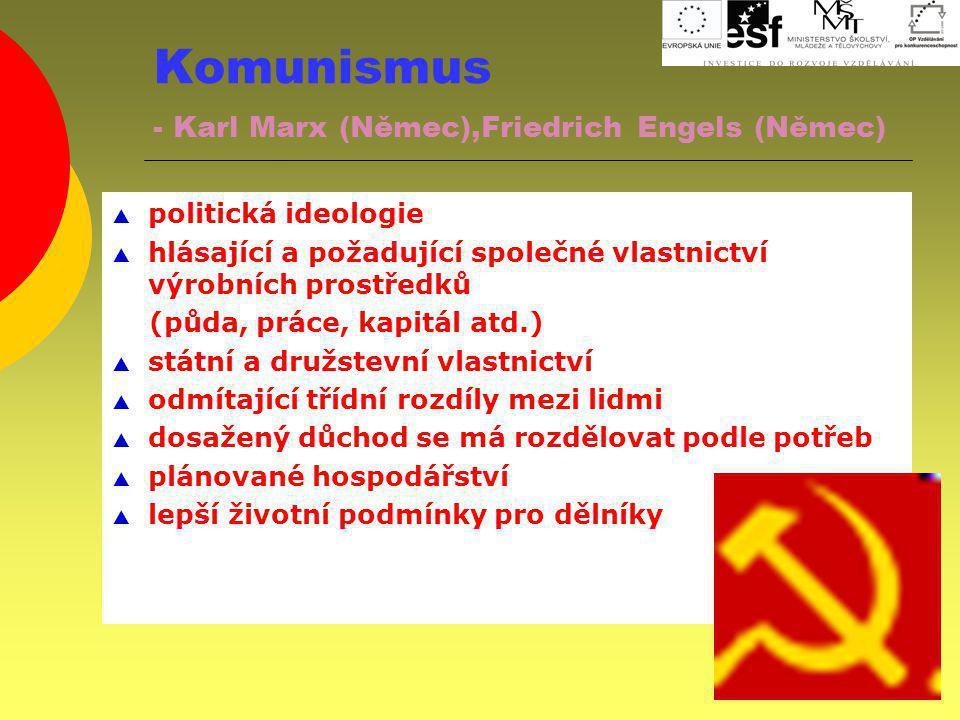 Komunismus - Karl Marx (Němec),Friedrich Engels (Němec)