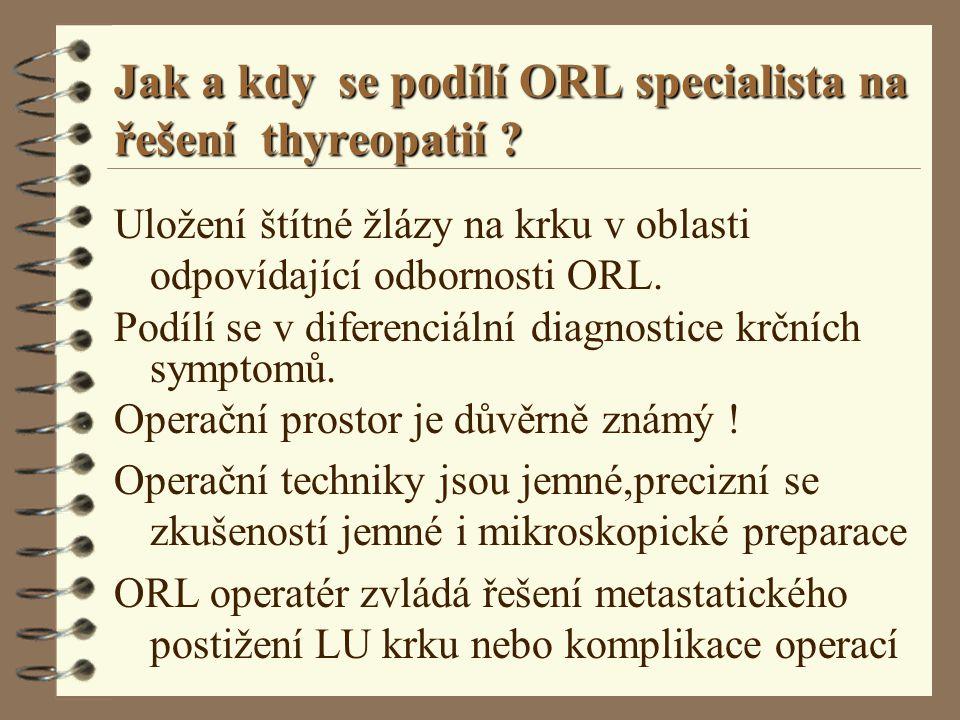 Jak a kdy se podílí ORL specialista na řešení thyreopatií