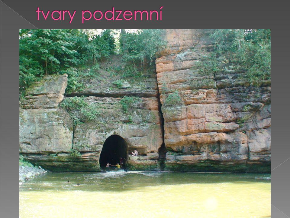 tvary podzemní štoly, šachty, tunely