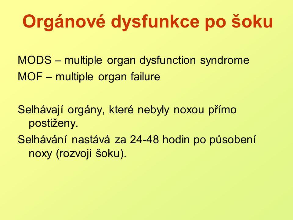 Orgánové dysfunkce po šoku
