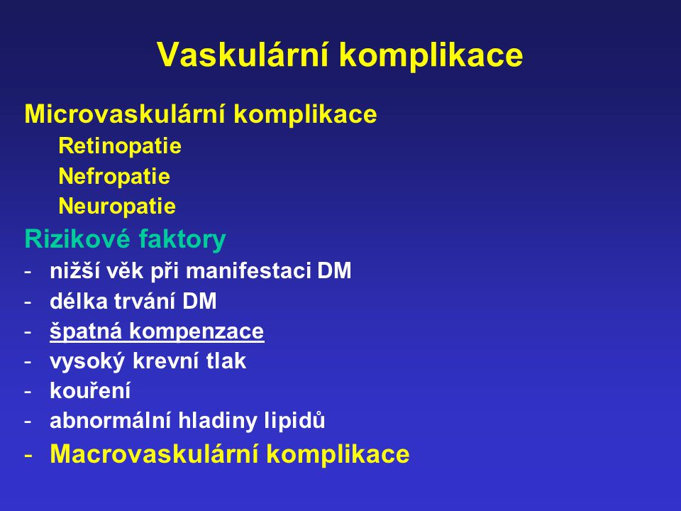 Vaskulární komplikace