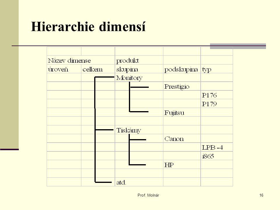 Hierarchie dimensí Prof. Molnár