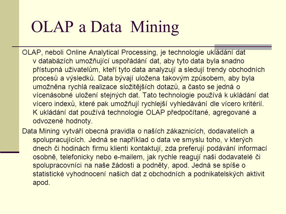OLAP a Data Mining