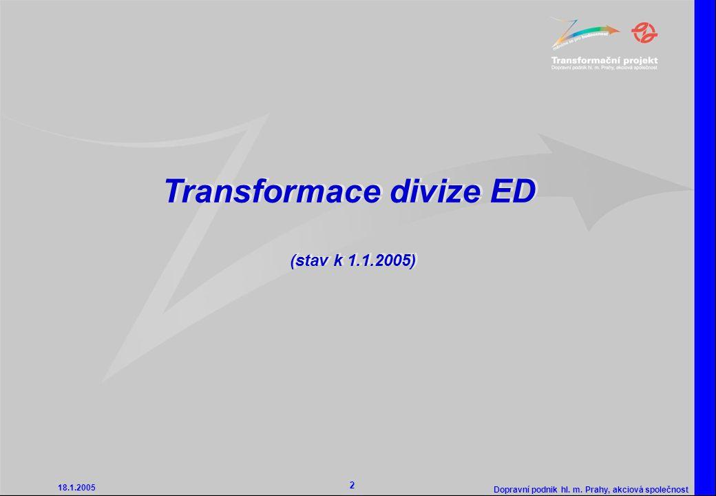 Transformace divize ED (stav k 1.1.2005)