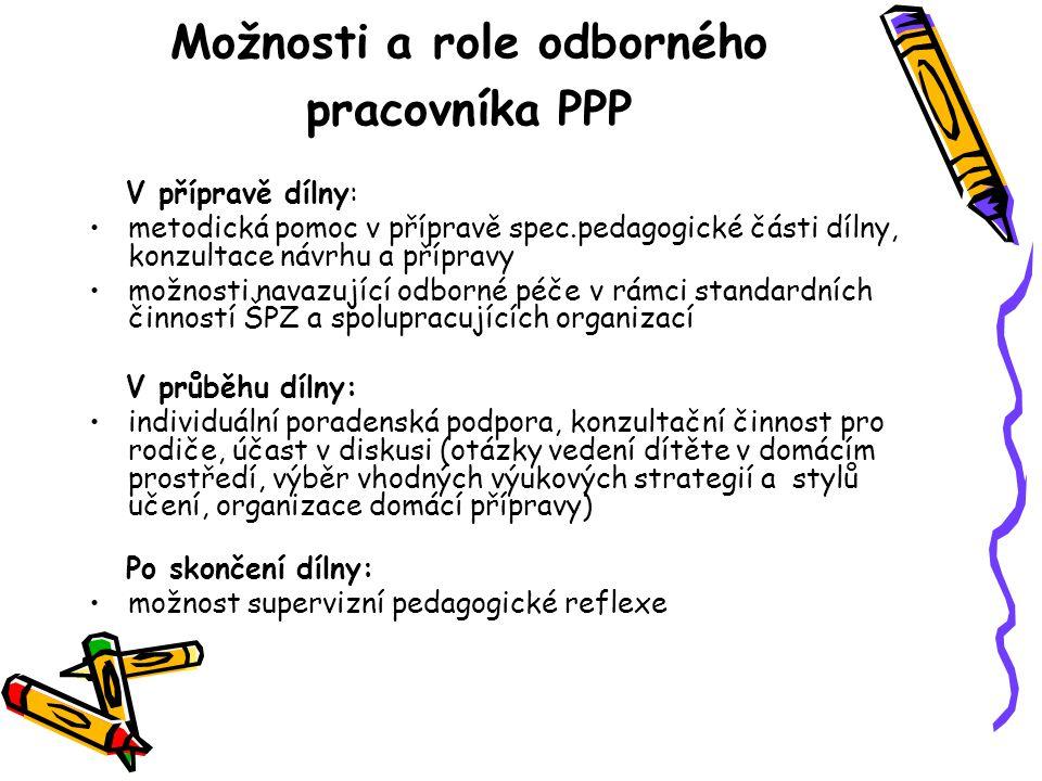 Možnosti a role odborného pracovníka PPP