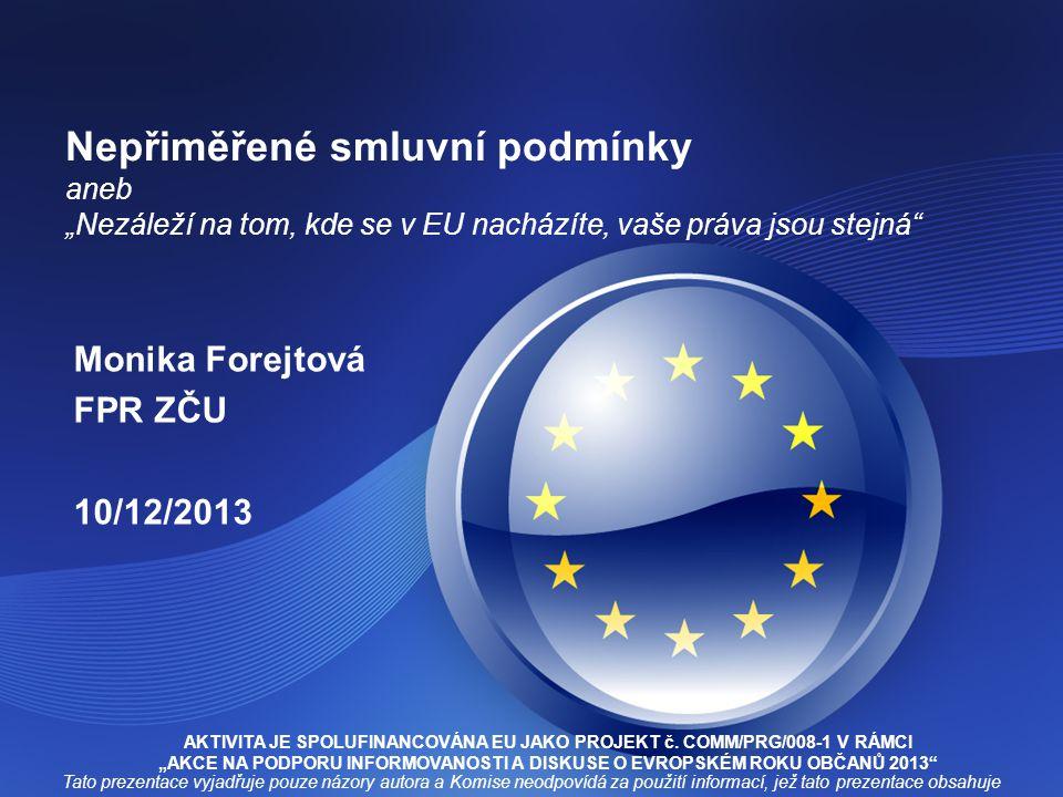 Monika Forejtová FPR ZČU 10/12/2013