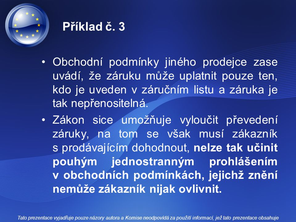 Příklad č. 3