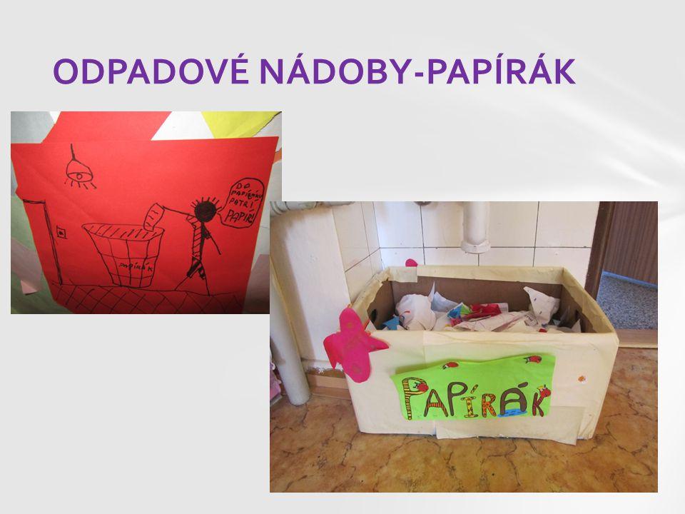 ODPADOVÉ NÁDOBY-PAPÍRÁK