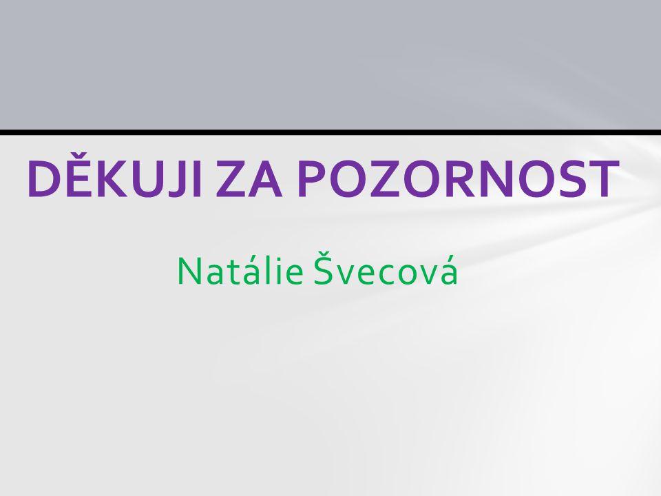 DĚKUJI ZA POZORNOST Natálie Švecová