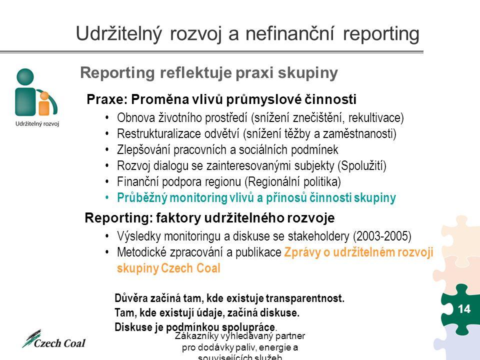Udržitelný rozvoj a nefinanční reporting