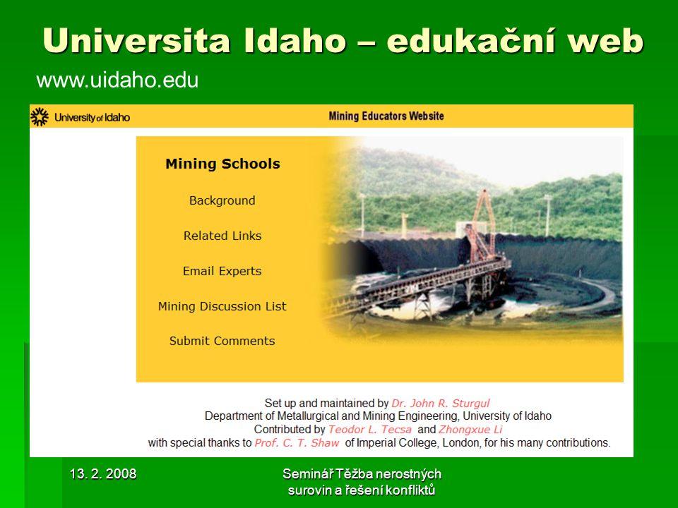 Universita Idaho – edukační web