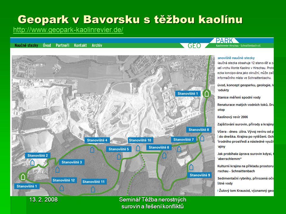 Geopark v Bavorsku s těžbou kaolínu
