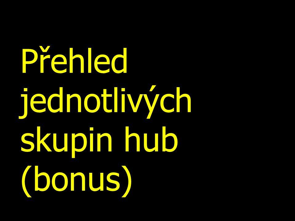 Přehled jednotlivých skupin hub (bonus)