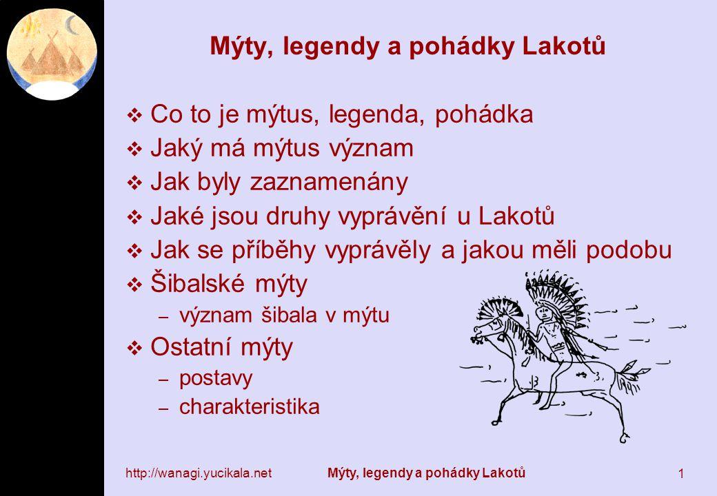 Mýty, legendy a pohádky Lakotů