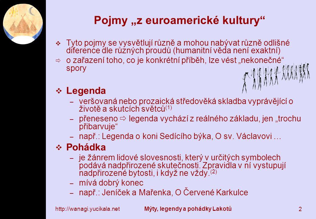 """Pojmy """"z euroamerické kultury"""