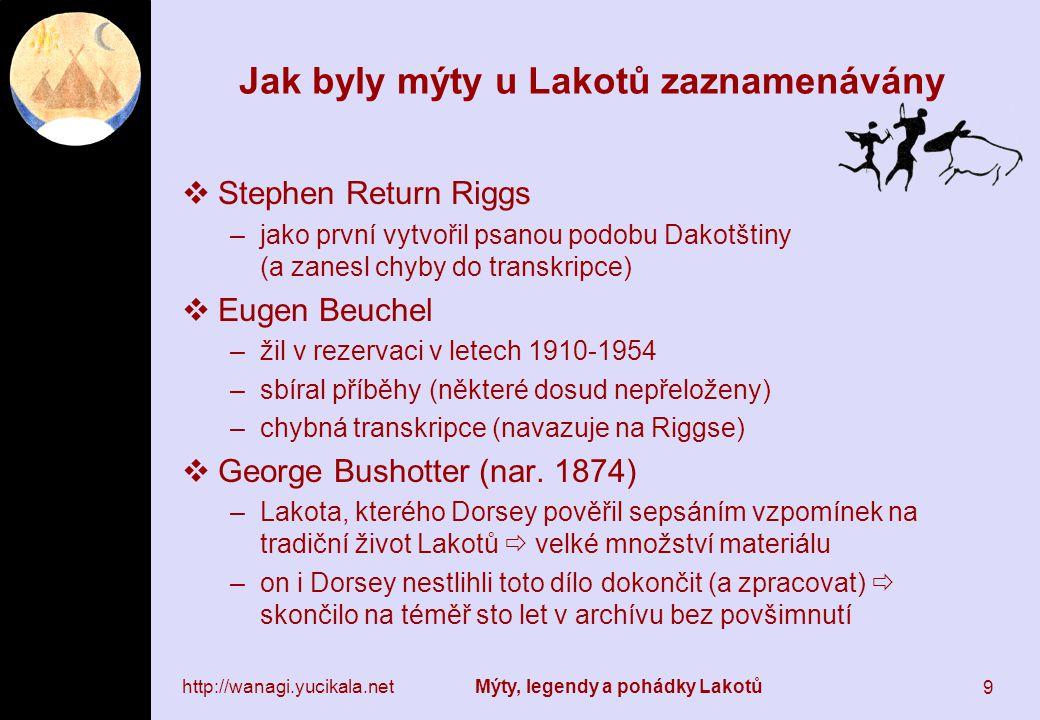 Jak byly mýty u Lakotů zaznamenávány