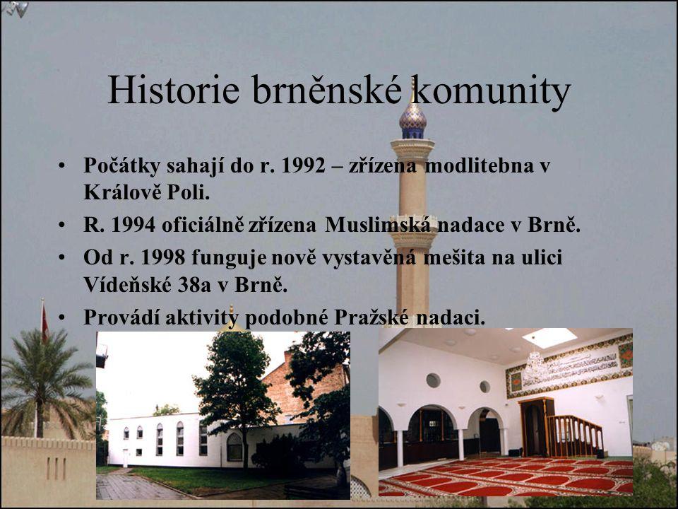 Historie brněnské komunity
