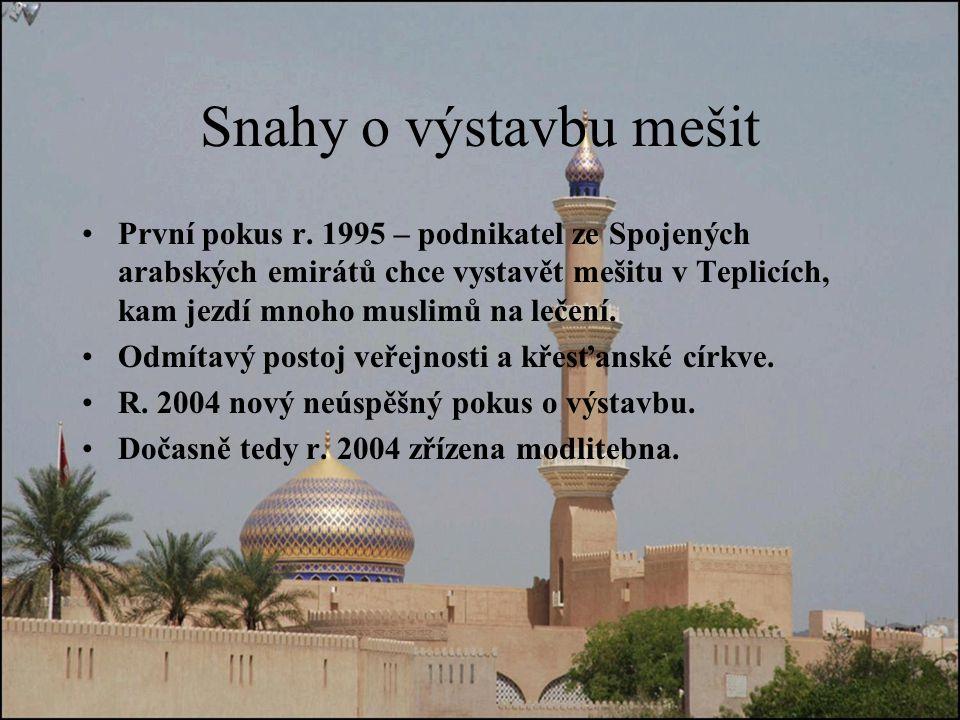 Snahy o výstavbu mešit