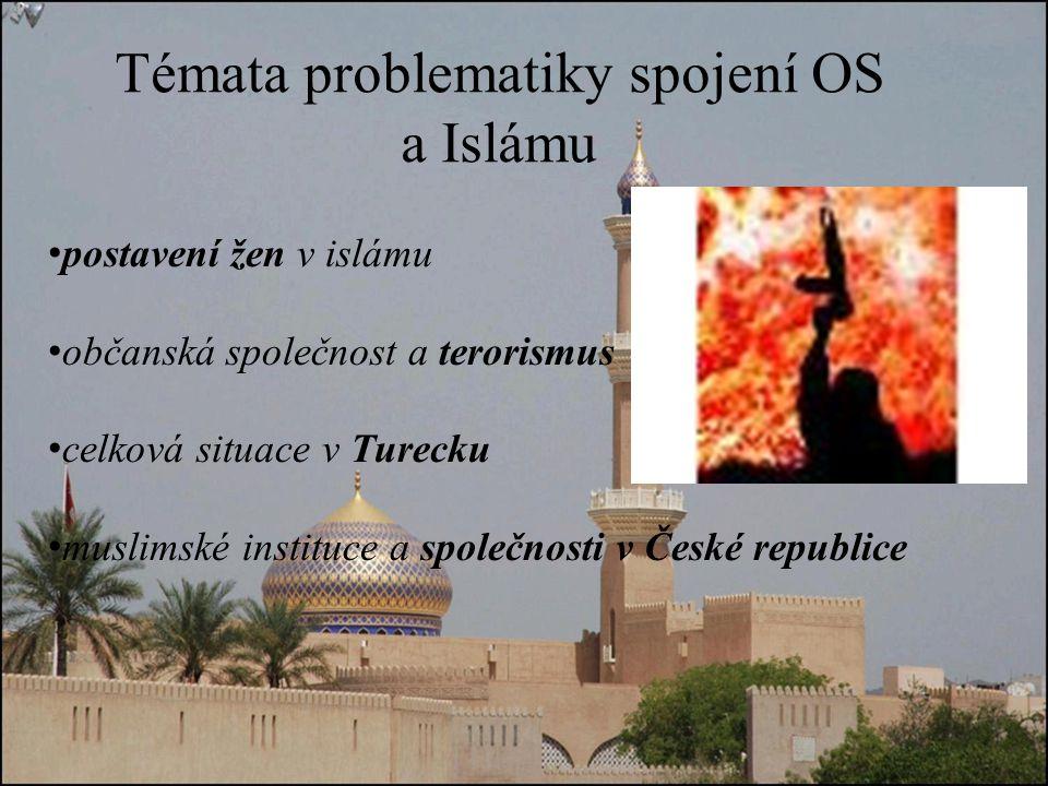 Témata problematiky spojení OS a Islámu