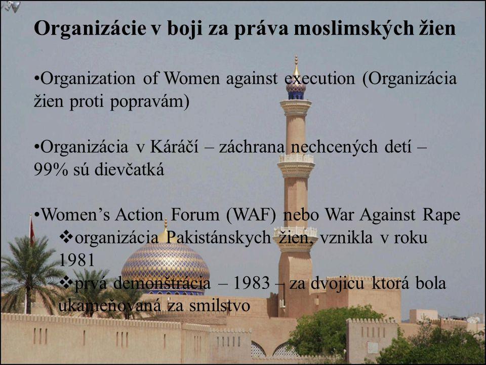 Organizácie v boji za práva moslimských žien
