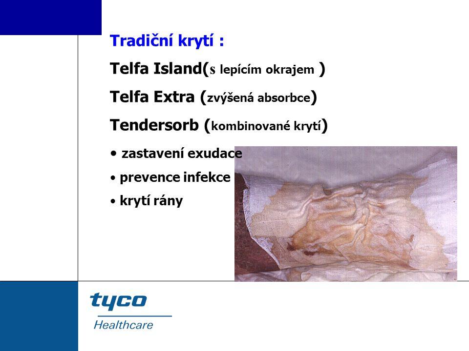 Telfa Island(s lepícím okrajem ) Telfa Extra (zvýšená absorbce)