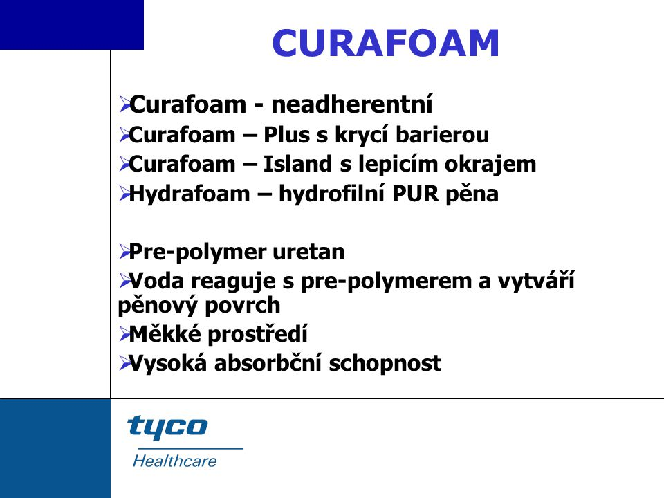 CURAFOAM Curafoam - neadherentní Curafoam – Plus s krycí barierou