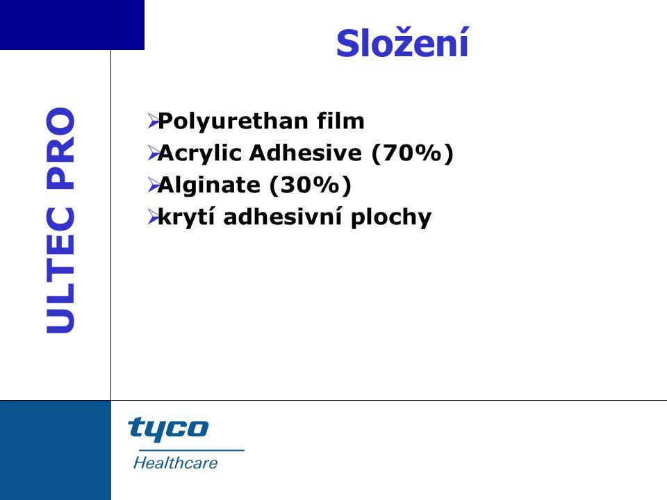 Složení ULTEC PRO Polyurethan film Acrylic Adhesive (70%)