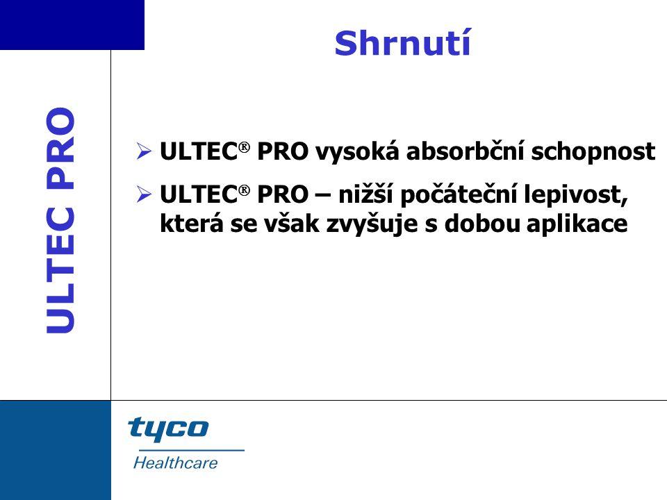 ULTEC PRO Shrnutí ULTEC PRO vysoká absorbční schopnost