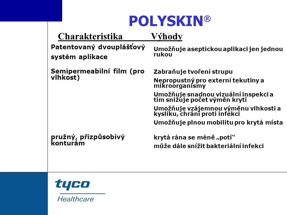 POLYSKIN Charakteristika Výhody Patentovaný dvouplášťový