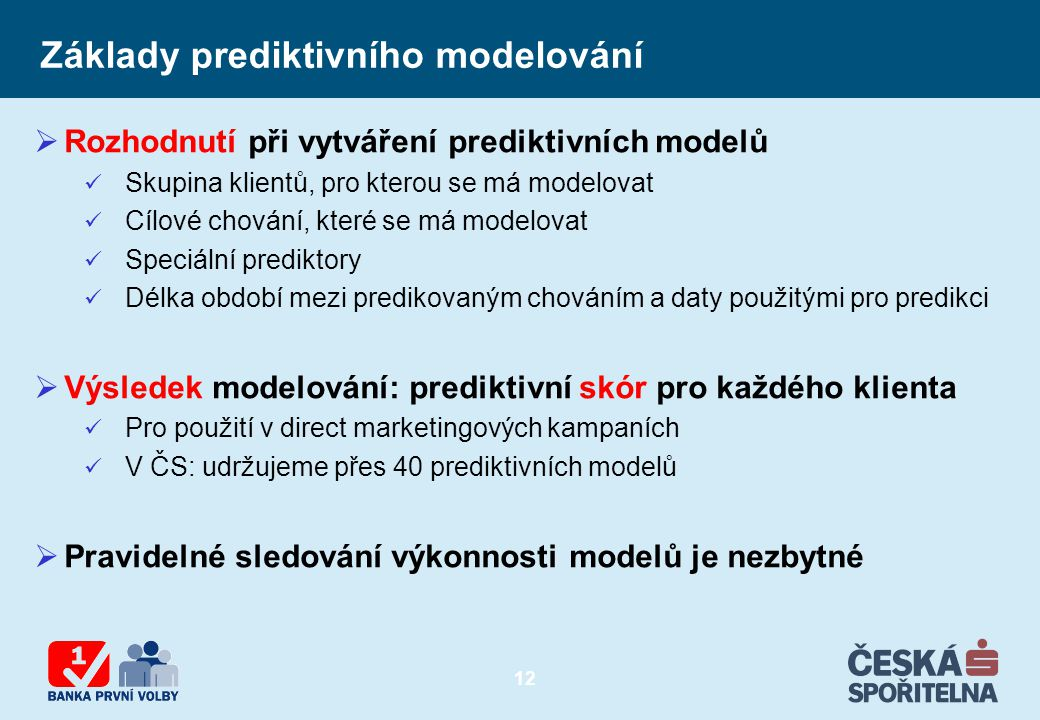 Základy prediktivního modelování