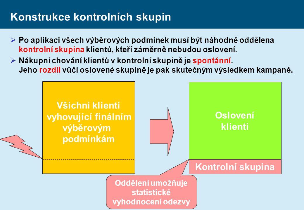 Konstrukce kontrolních skupin