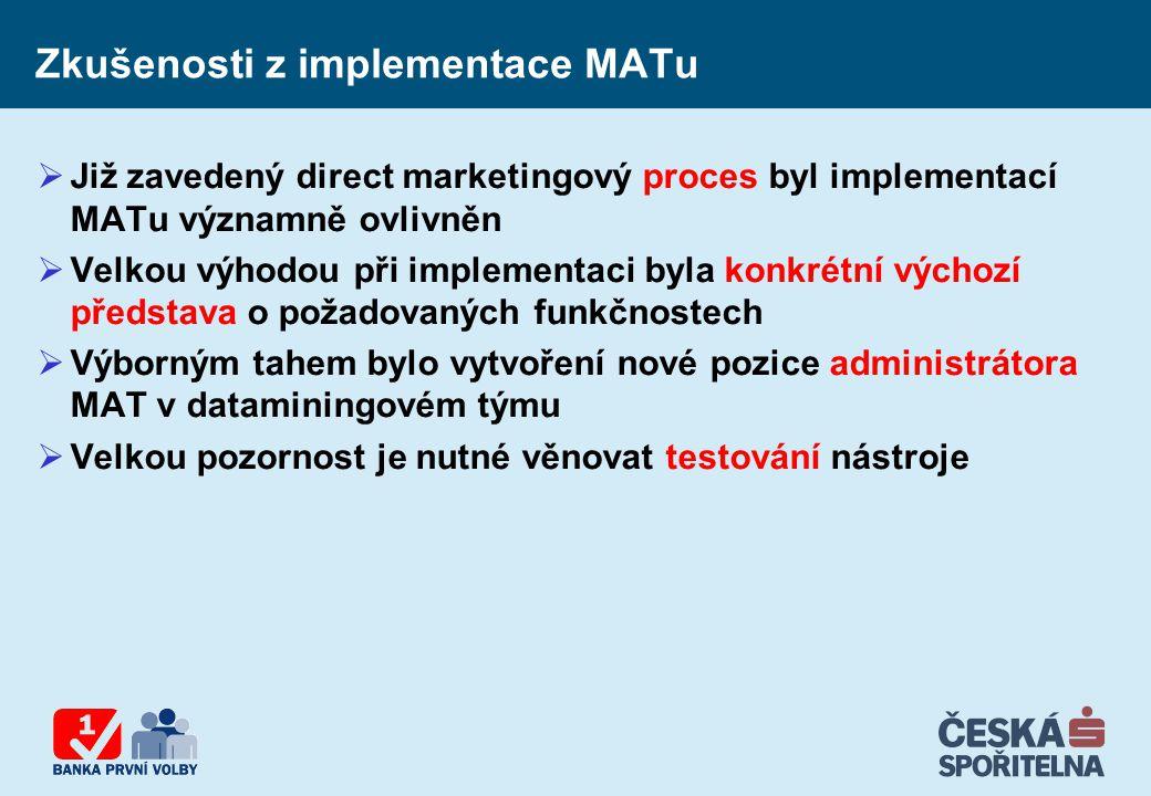 Zkušenosti z implementace MATu