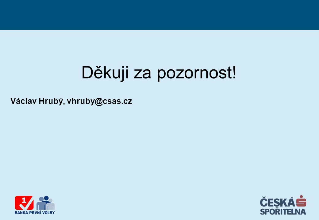 Děkuji za pozornost! Václav Hrubý, vhruby@csas.cz