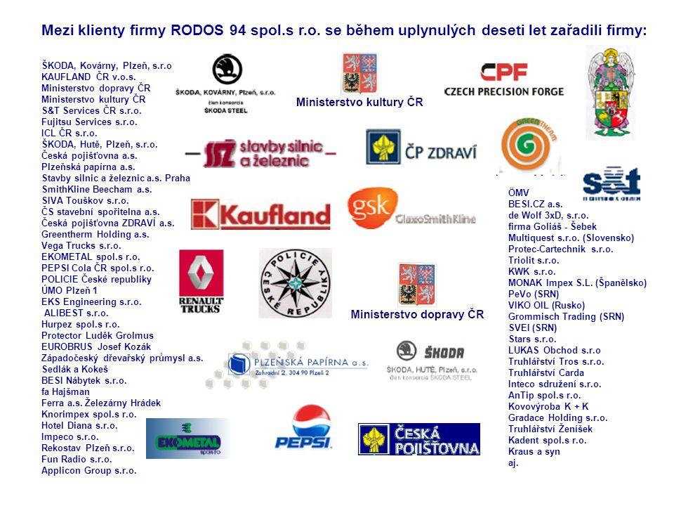 Mezi klienty firmy RODOS 94 spol. s r. o