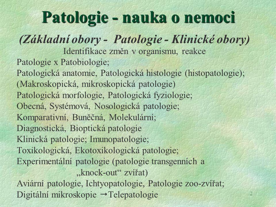 Patologie - nauka o nemoci