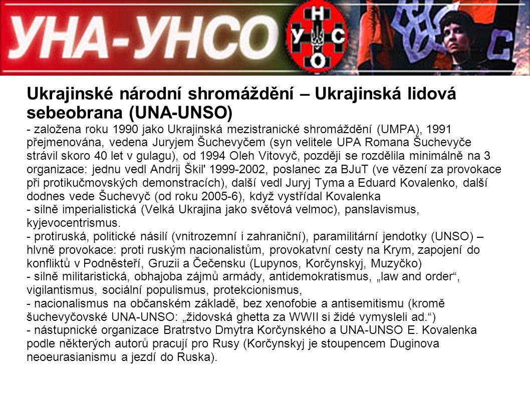 Ukrajinské národní shromáždění – Ukrajinská lidová sebeobrana (UNA-UNSO)