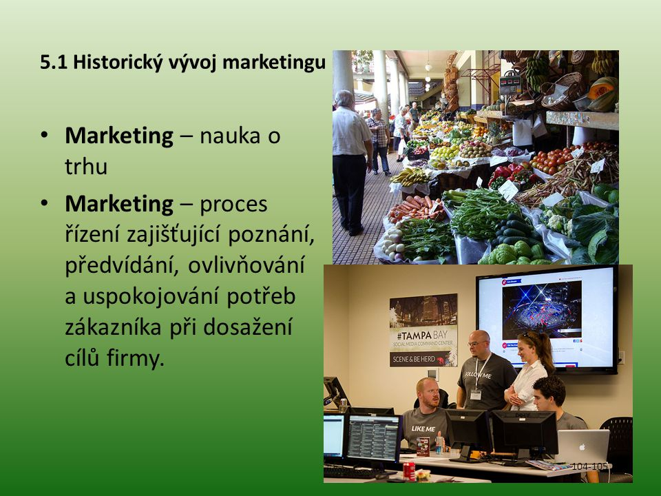 5.1 Historický vývoj marketingu