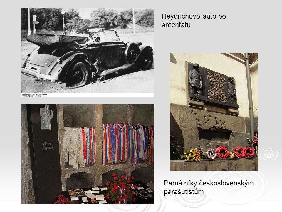 Heydrichovo auto po antentátu
