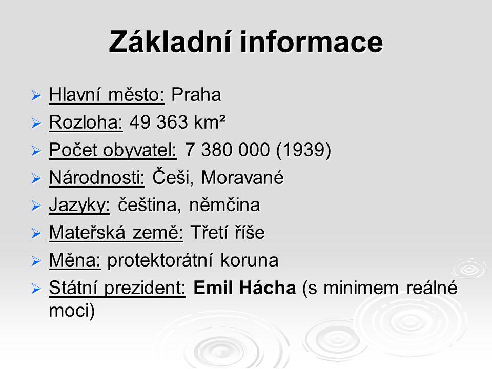 Základní informace Hlavní město: Praha Rozloha: 49 363 km²