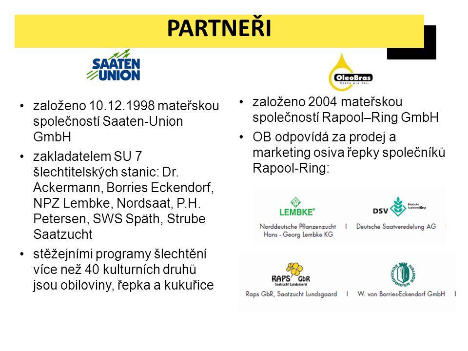 PARTNEŘI založeno 2004 mateřskou společností Rapool–Ring GmbH
