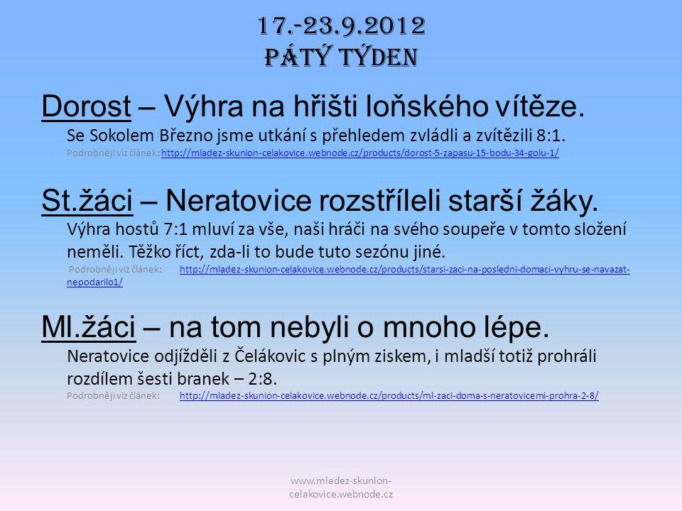 17.-23.9.2012 Pátý TÝDEN