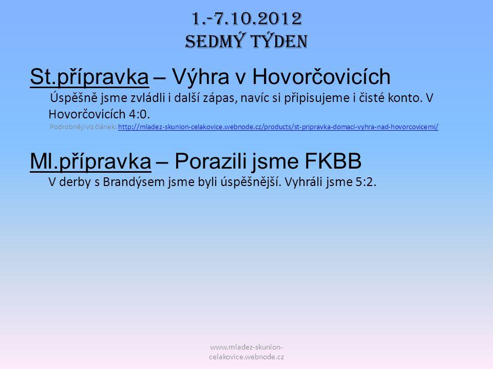 1.-7.10.2012 Sedmý TÝDEN